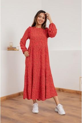 فستان سبور طويل منقط