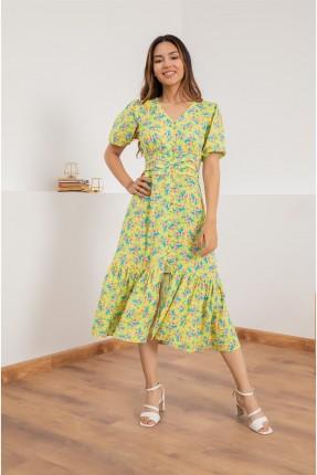 فستان سبور نصف كم مزهر
