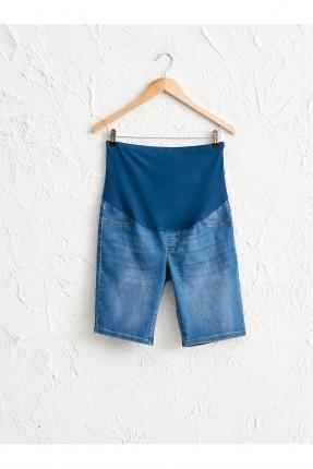 شورت حمل جينز بكحتة