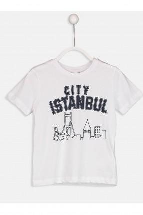 تيشرت اطفال ولادي بطبعة اسطنبول