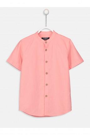 قميص اطفال ولادي بياقة صينية