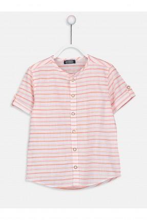 قميص اطفال ولادي بوبلين مخطط