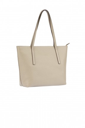 حقيبة يد نسائية جلد سادة اللون