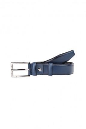 حزام رجالي جلد سادة اللون