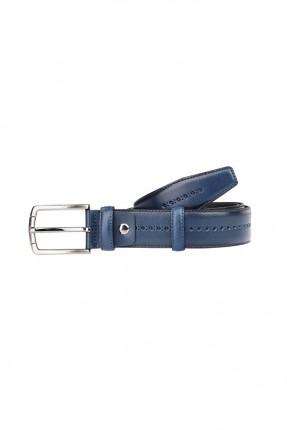 حزام رجالي جلد مزين بزخرفة