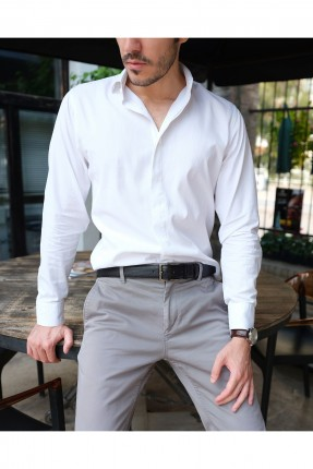 حزام رجالي جلد مزين بثقوب