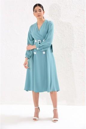 فستان سبور مزين بازرار