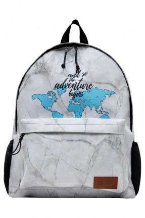 حقيبة ظهر اطفال ولادي بطبعة خريطة العالم