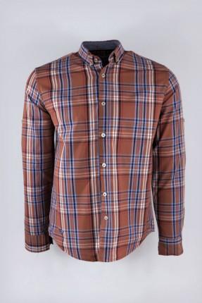 قميص رجالي سبور كارو كم طويل