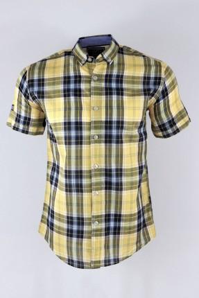 قميص رجالي سبور كارو نص كم