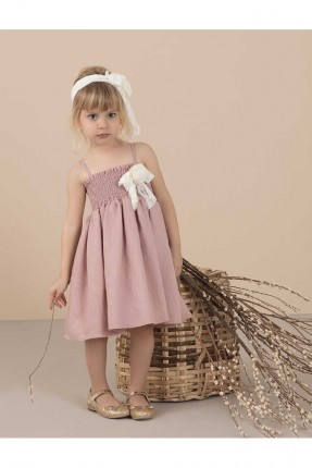 فستان اطفال بناتي مزين بوردة