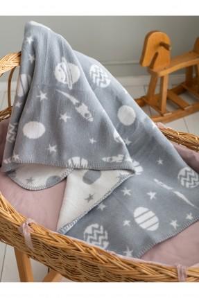 بطانية سرير بيبي ولادي مزين برسم