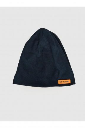 قبعة رجالية تريكو بطبعة كتابة