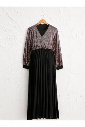 فستان رسمي للحامل بياقة V