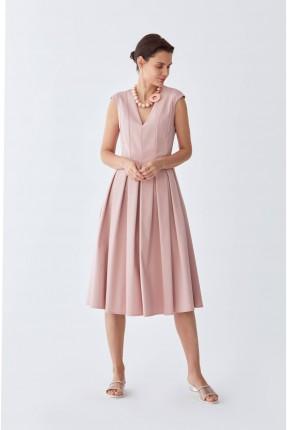 فستان سبور حفر بياقة V