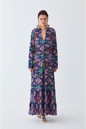 فستان سبور بزخرفة ملونة