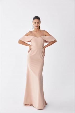 فستان رسمي باكتاف منخفضة