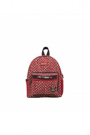 حقيبة مدرسية اطفال بناتي بطبعة ميني ماوس - احمر
