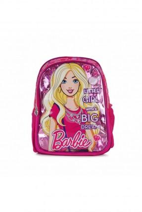 حقيبة مدرسية اطفال بناتي بطبعة باربي - زهري
