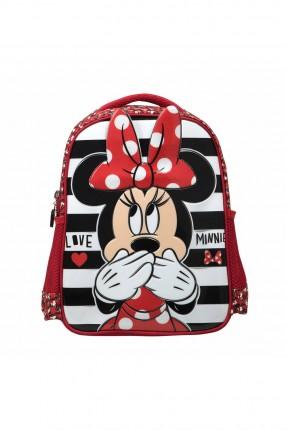 حقيبة مدرسية اطفال بناتي بطبعة ميكي ماوس - احمر