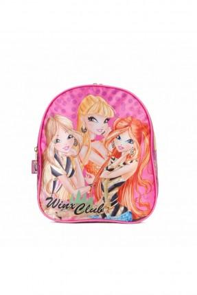 حقيبة مدرسية اطفال بناتي بطبعة وينكس - زهري