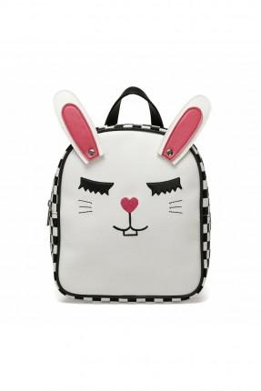 حقيبة مدرسية اطفال بناتي بطبعة لولو كاتي - ابيض