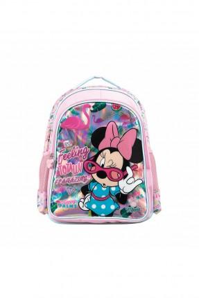 حقيبة مدرسية اطفال بناتي بطبعة ميكي ماوس - زهري