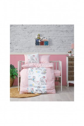 طقم غطاء سرير بيبي بناتي مع رسومات
