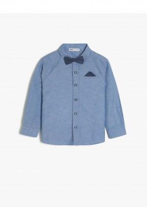 قميص اطفال ولادي بجيب - ازرق