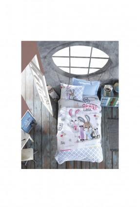 طقم غطاء سرير اطفال ولادي مزين برسم