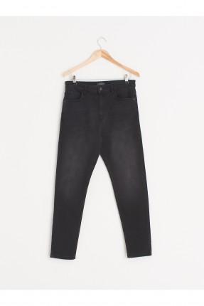 بنطال جينز رجالي سادة - اسود