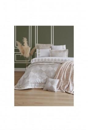 طقم بطانية سرير مزدوج عرائسي - مزخرف