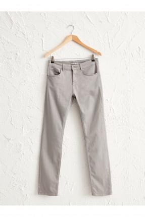 بنطال جينز رجالي سليم فيت - فضي