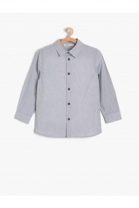 قميص اطفال ولادي سادة - فضي