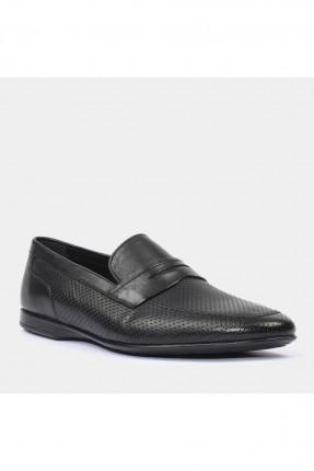 حذاء رجالي بثقوب - اسود