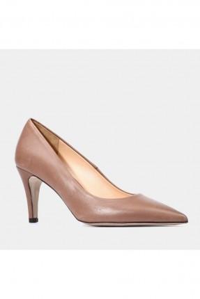 حذاء نسائي بكعب رفيع - بني