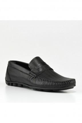 حذاء رجالي باطار حبكة من الامام - اسود