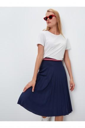 تنورة قصيرة سبور بحزام ملون - ازرق داكن