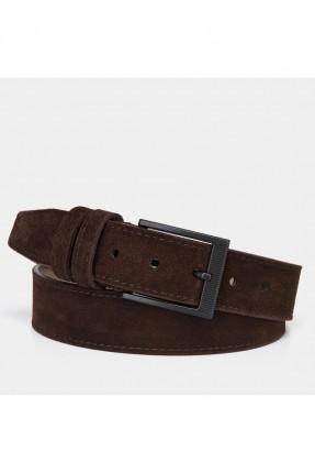 حزام رجالي سادة اللون - بني