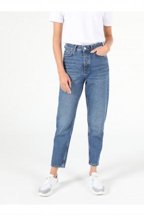 بنطال جينز نسائي بكحتة