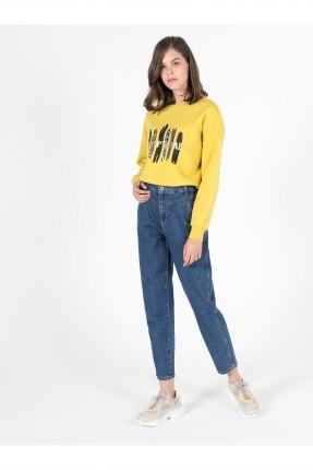 بنطال جينز نسائي خصر عالي