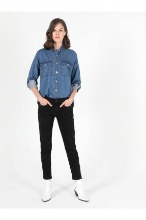 بنطال جينز نسائي سادة