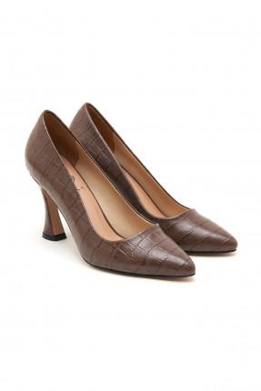 حذاء نسائي جلد بنقشة
