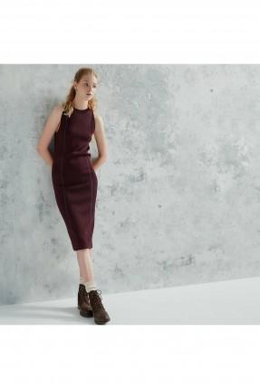فستان سبور تريكو - خمري