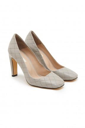 حذاء نسائي جلد بحبكة