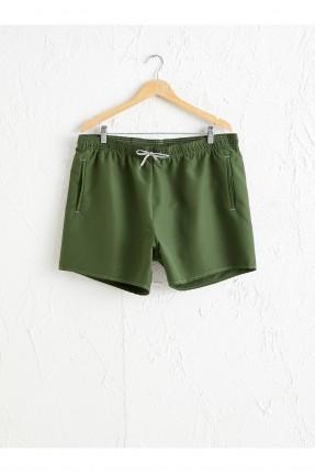 شورت سباحة رجالي - اخضر داكن