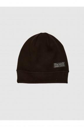 قبعة رجالية بطبعة - اسود