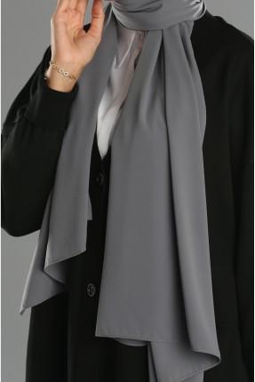 حجاب تركي سادة - رمادي غامق