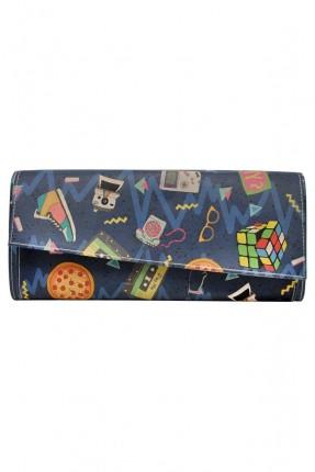 حقيبة يد نسائية مزينة بطبعات