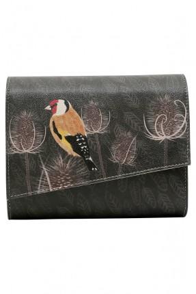 حقيبة يد نسائية بطبعة عصفور